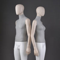 Wooden fashion wood grain head arm naked nude sexy hot full-body tall gents male and female mannequins real