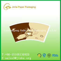 flexographic printing paper cup fan/6 color printed pe coated paper cup sleeve for coffee cups