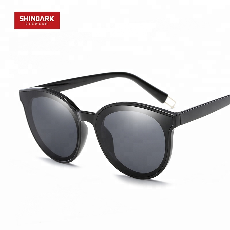 f2f5b4dea JH011 الأزياء جودة مخصصة تعزيز يتوهم الملونة عدسة عاكسة القط العين جولة النظارات  الشمسية