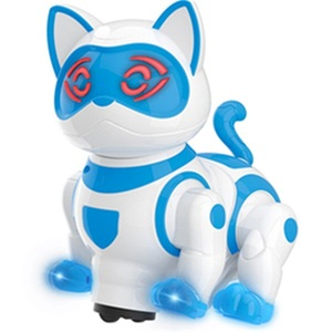BO Pet Toy Smart Robot Cat With Light And Music