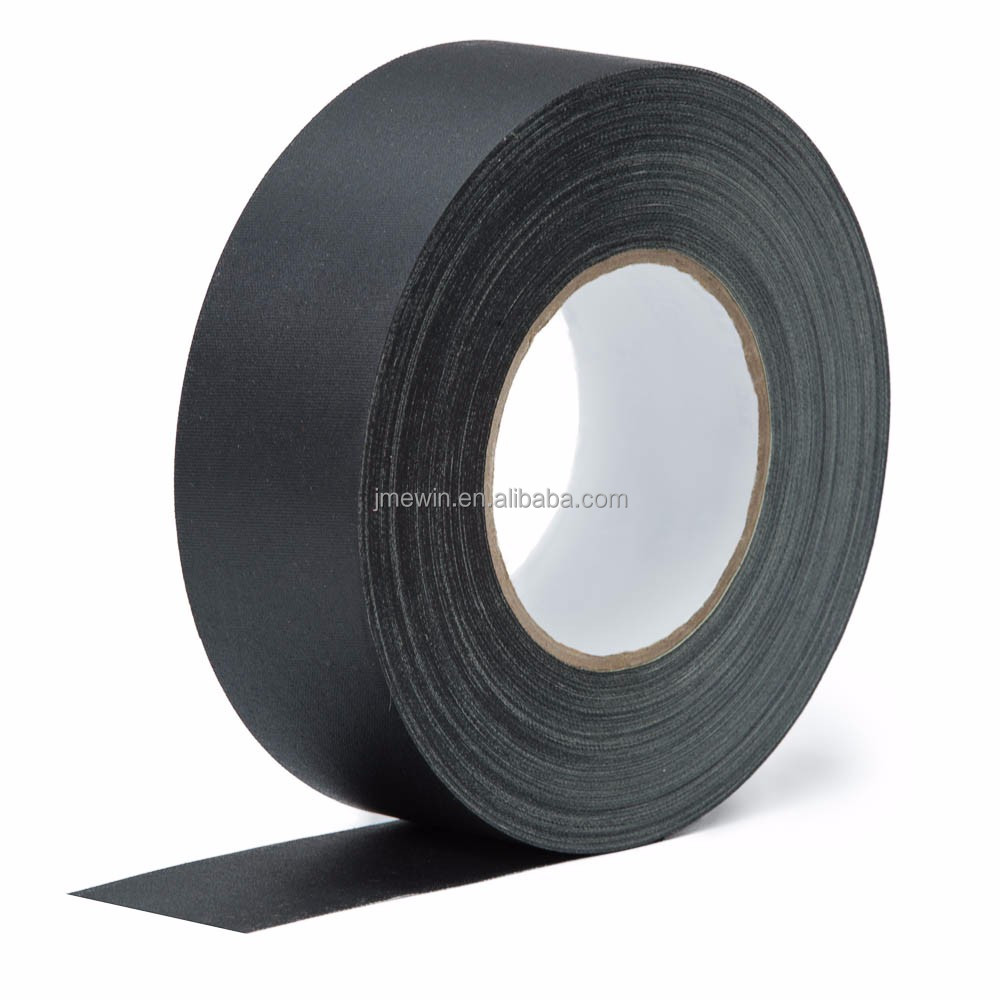 Free <strong>sample</strong> no residue single sided high adhesive heavy duty pro matte cloth book binding black gaffer tape