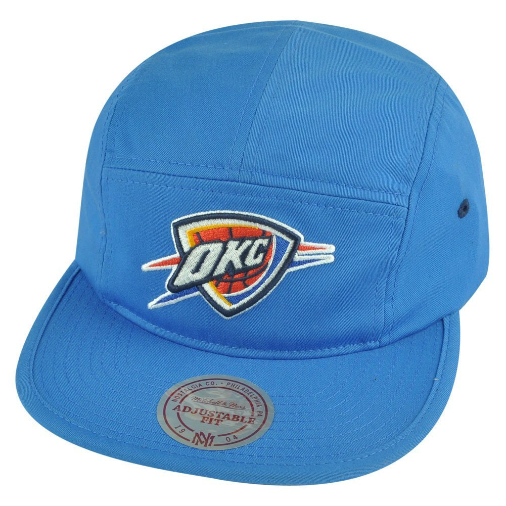 NBA Mitchell Ness Oklahoma City Thunder Y356Z Solid Team Camper 5 Panel Hat  Cap f86b90dc7285