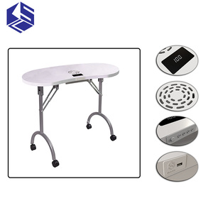 KSL Folding Manicure table furniture easy to take favorable price Mobile manicure table for sale