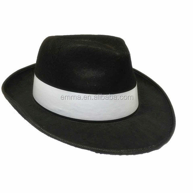 2e8077a96e Adult Black Gangster Hat Felt Trilby Fedora Al Capone Fancy Dress Mafia  Sa1266 - Buy Trilby Hat,Fedora Hat,Gangster Hat Product on Alibaba.com