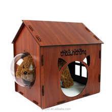 Solid Wood Portable Indoor Camping Dog House Pet Sun Shelter Dog Kennel Cat Cages