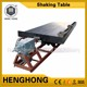 Small diesel engines alluvial gold mining machine/equipment double ly shaking table for sale