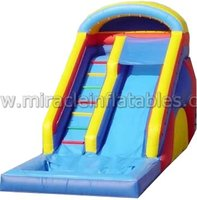 Commercial PVC inflatable slip and slide,commercial water slide,jumping slides M4019