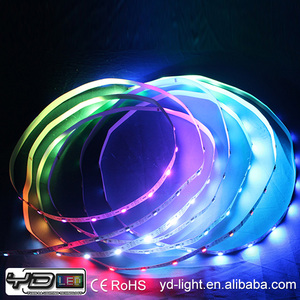 LED 30leds/m 12v ip65/ip67 dream magic color digital ws2801 tape 144 led pixel strip CE RoHS