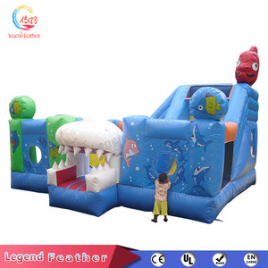Sea world Kids Amusement Park Inflatable Play Yard For Sale