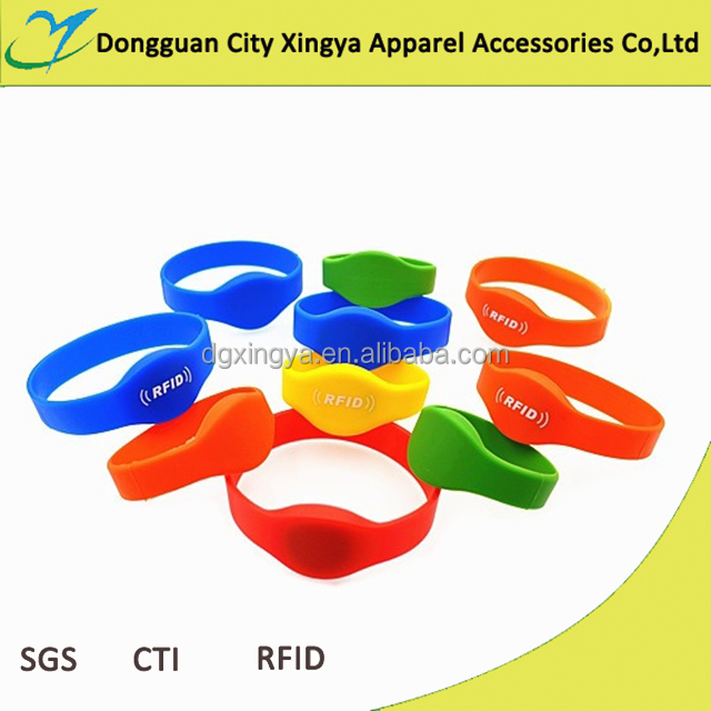waterproof rfid silicone wristband watch card