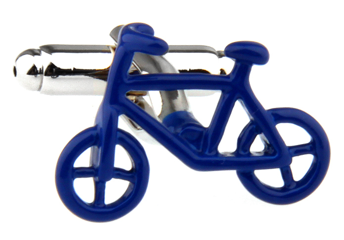 Free shipping Bicycle Cufflinks retail blue/black color novelty bike design copper material cufflinks whoelsale&retail