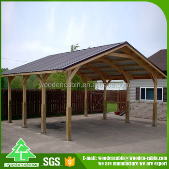 Price Prefab Wooden Carport 2 Car For