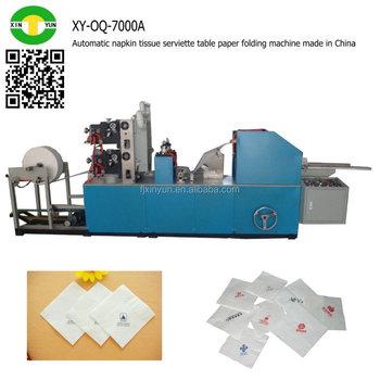 Automatic napkin tissue serviette table paper folding - Serviette table tissu ...