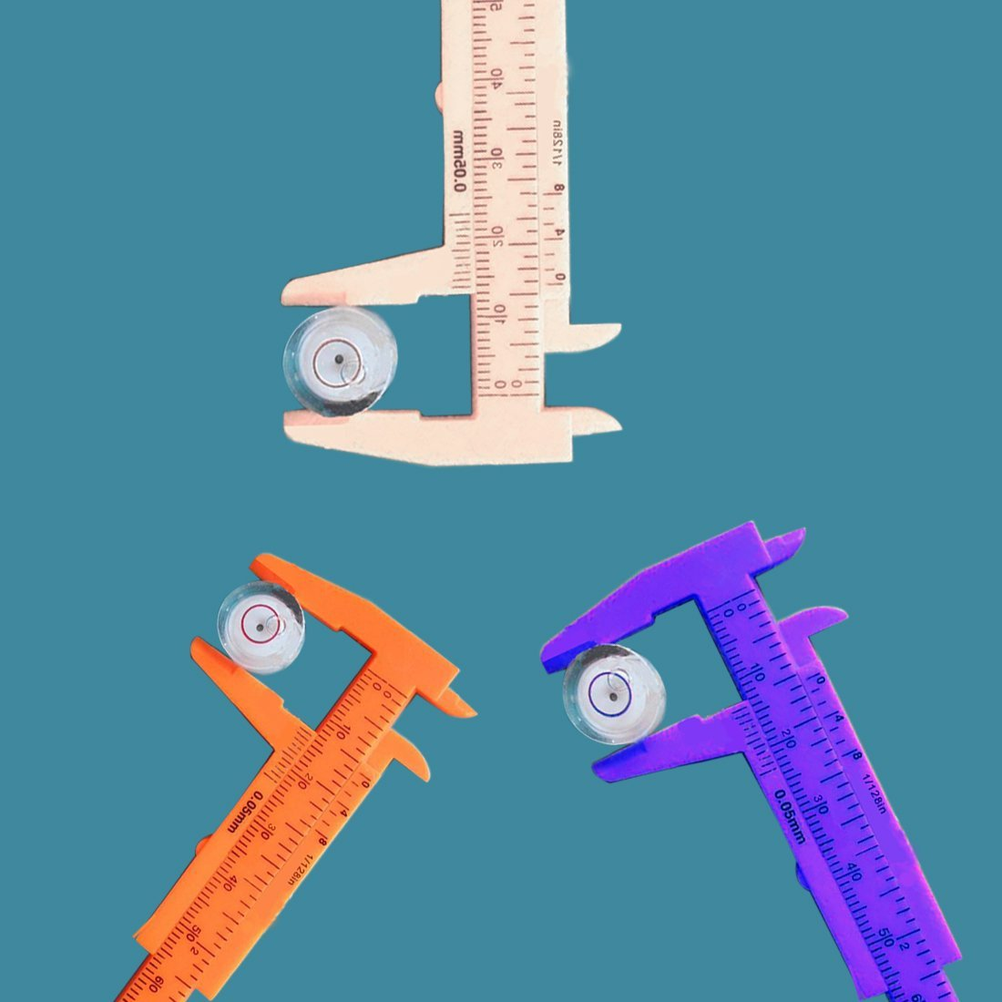 CNBTR Silver Caliper Gauge Machinist Long Firm Joint Metal Measurement Tool Inside and Outside Caliper Pack of 2 250mm