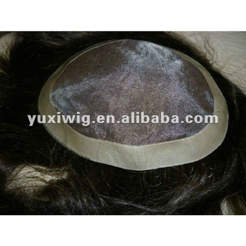 Wholesale top quality 100% virgin human hair man's toupee
