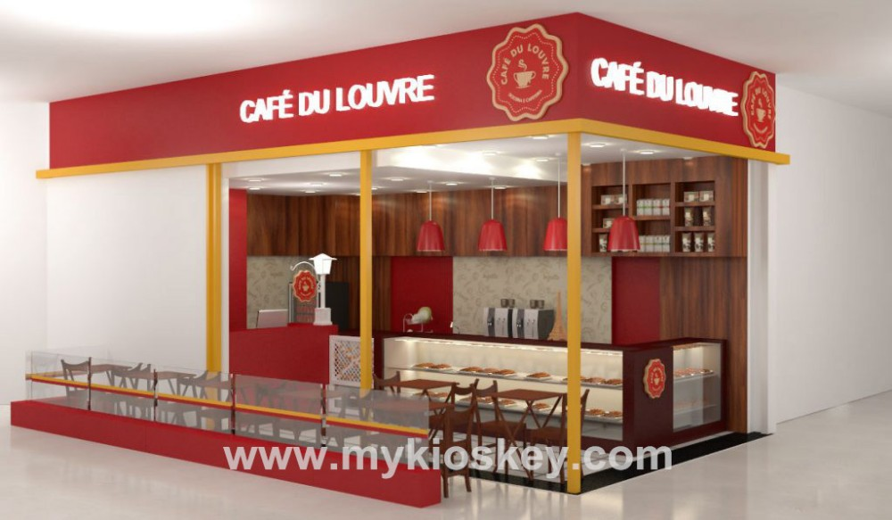 Fast Food Kiosk Restaurant Interior Decoration Design - Buy ...