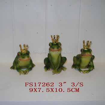 China Wholesale Animal Figurines Polyresin Frogs Statues For Garden Decor