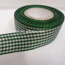 Decorativas al por mayor 3/8 inch buena calidad Plaid/cheque