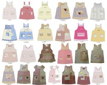 Character Applique Patchwork Embroidery Designs Cotton Kitchen Apron