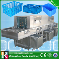 Stainless steel electric high pressur washer, vegetable turnover plastic basket washer