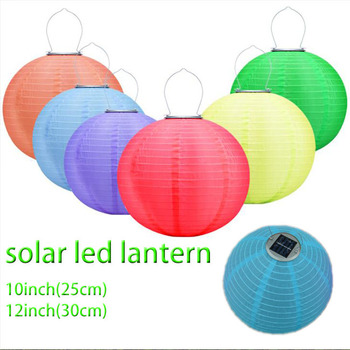 Solar Chinese Lantern Camp Lights Outdoor Waterproof Led Foldable Rechargeable Handling Ed Camping