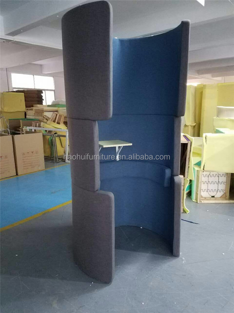 2017 Fabric Round Phone Booth/office Phone Booth With Table From Foshan  Haohui Furniture