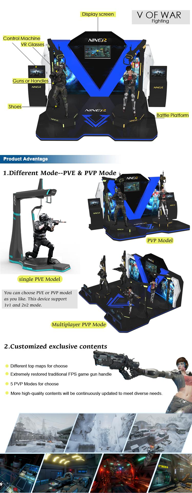 หารายได้เครื่องเกม 9dvr วอล์คเกอร์ Flight Simulator VR เกมยิง VR Walker Kat Walk VR กับ Vive 9dVR แว่นตา