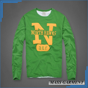 Lemon Green Long Sleeve Foam Printing Men s Casual T Shirt - Buy ... 262996e91