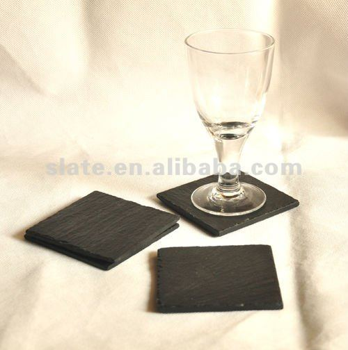 square shape slate placemat
