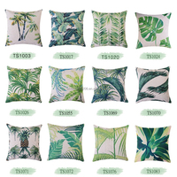 wholesale unique design tree printing ribbon embroidery cushion cover