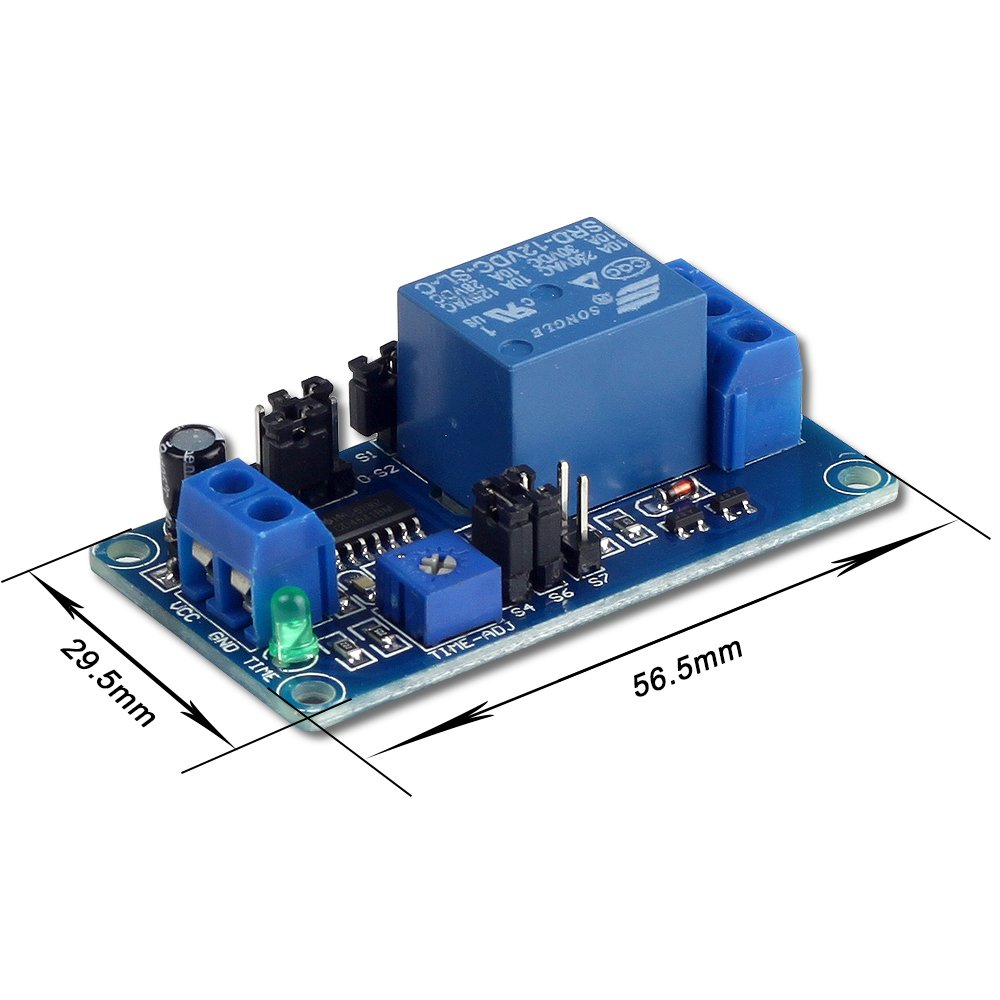 DC 5V 12V Time Delay Relay Module for Smart Home Tachograph GPS PLC Control Industrial Control Electronic Experiment Robot