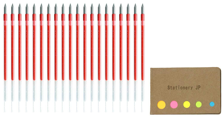 Uni-ball SXR-80-05 Jetstream Ballpoint Multi Pen Refill, 0.5 mm, Red Ink, 20-pack, Sticky Notes Value Set