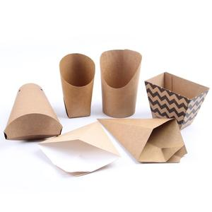 food take away box, paper donut packaging box,printed paper french fries cone
