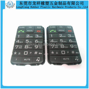 silicone cordless telephone spray coating keypads,with printing silicone keypad