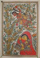 HANUMAN AND SITA in LANKA Painting