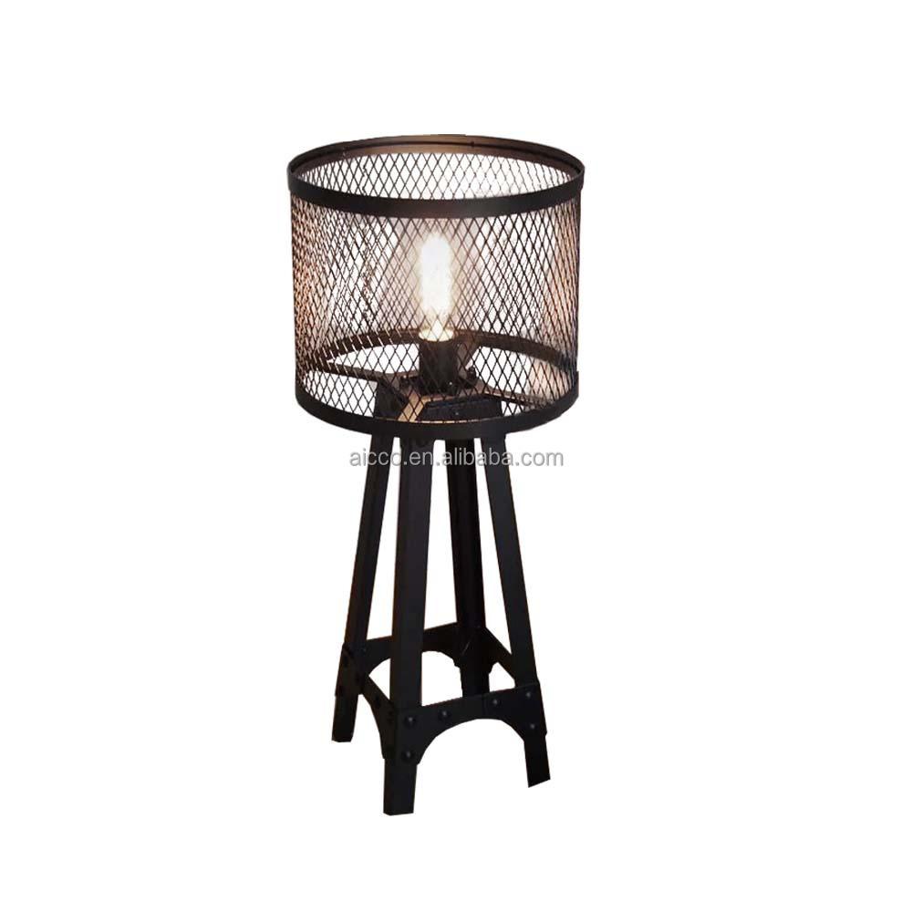 Modern Table Lamp Vintage Industrial Eiffel Tower Antique Metal ...