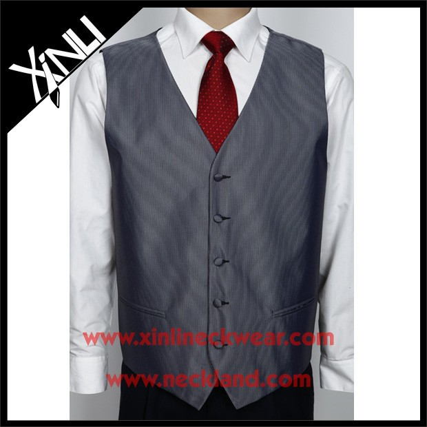 Chinese Factory Wholesale Men Suit Polyester Vest Tie Set