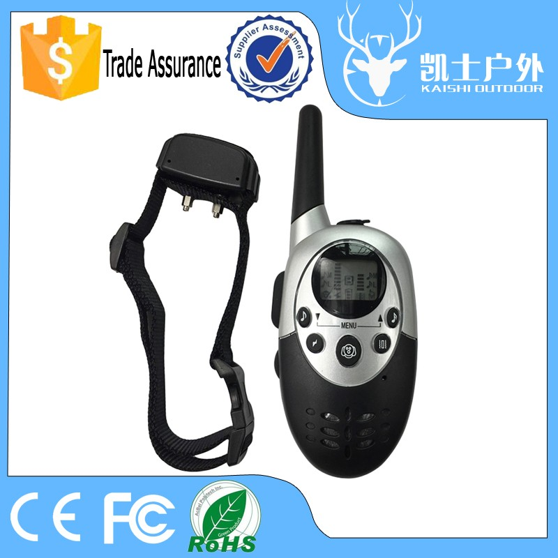 Waterproof rechargeable remote dog shock training e collar with 2 mode for 2 dogs