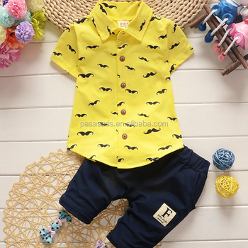 AL2020B Summer shirt +pants 2 pcs children baby suits clothing manufacturer