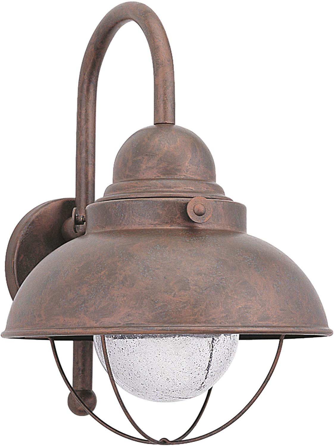 Sea Gull Lighting 887193S-44 Sebring Outdoor Wall Sconce, 1-Light LED 14 Watts, Weathered Copper
