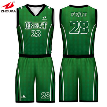 10b6b7e8bf5 wholesale cheap youth reversible basketball uniforms t-shirts custom  basketball jersey uniform design green
