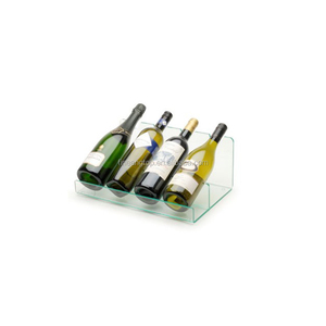 Four Beer Holder Rack Lucite Clear Acrylic Wine Bottle Stand Display