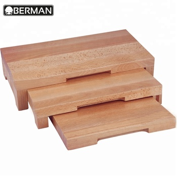Restaurant Hotel Supplies Modern 3 Tier Wood Bread Display Stand Sushi For Catering