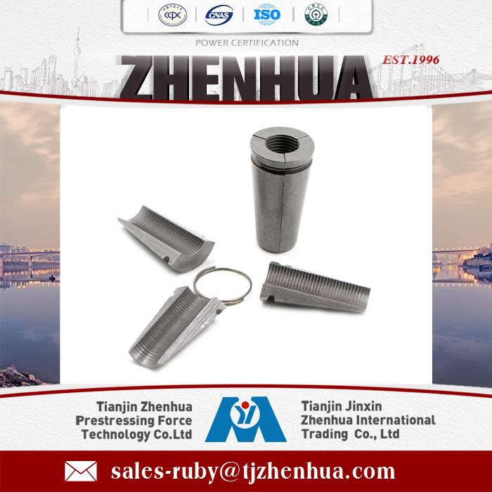 Prestressing 3-piece anchor wedge for mining cable bolt