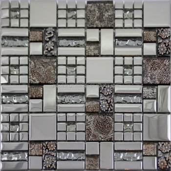 Glass Mosaic Tile Plated Crystal Tile Bathroom Wall Stickers Kitchen Backsplash Resin Flower Patterns Buy Glossy And Frosted Crystal Tiles Peel And Stick Crystal Glass Tiles Peel And Stick Crystal Mosaic Tiles Product
