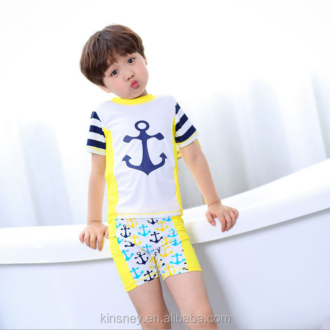 KS10007C Korean fashion style boys 3 pcs swimwear 2016 new children swimwear