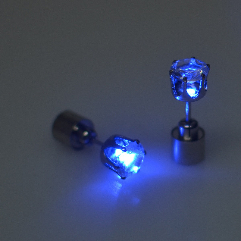 (Gift) Christmas Party Favor LED Earring with Batteries, Cheap Wholesale Led Stud Earrings, Hot LED Ear Ring for Parties
