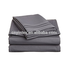 Yintex Solid Black Color Double Brushed Microfiber Bed Sheet