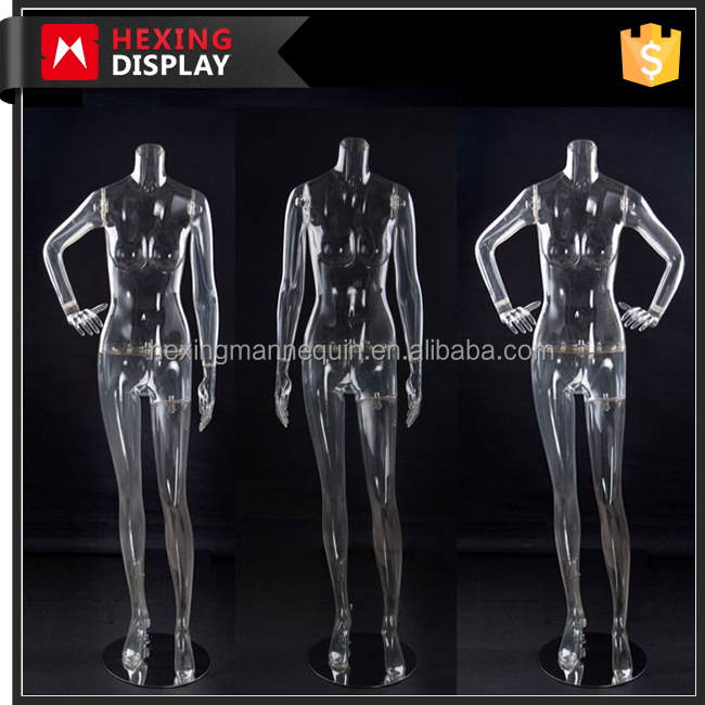 Fashion plastic transparent clear full body mannequin