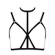 2016 New Black Halter Backless Ladies Cute Sexy Bustier Crop Tops Wholesale Hot Sale Free Shipping H2658
